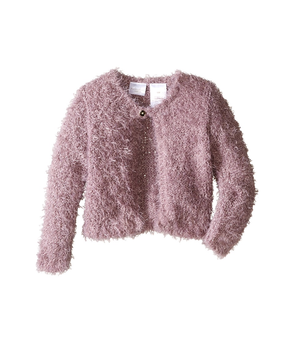 Kardashian Kids - Sequin Eyelash Cardigan (Infant) (Mauve) Girl's Sweater