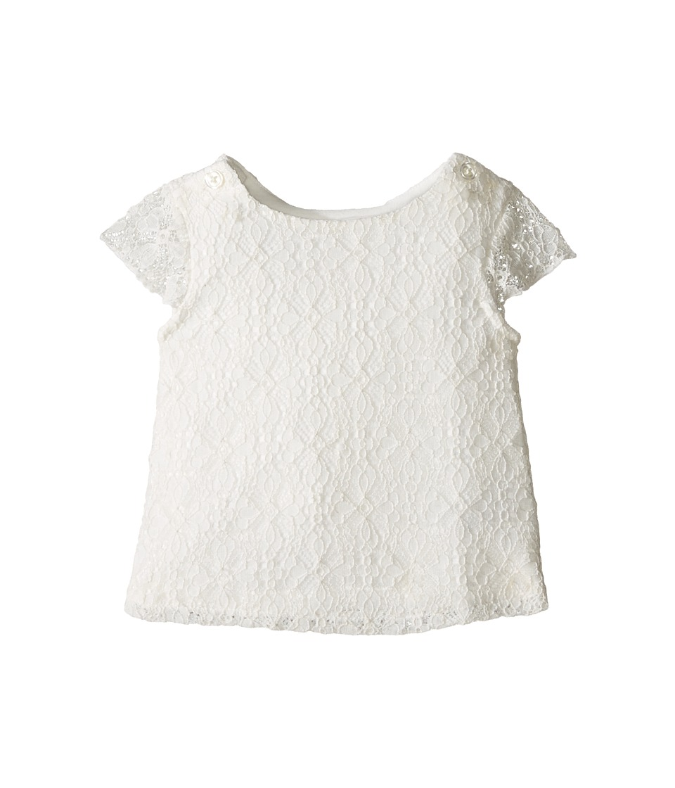 Kardashian Kids - Tulip Back Lace Top (Infant) (Ivory) Girl's Clothing