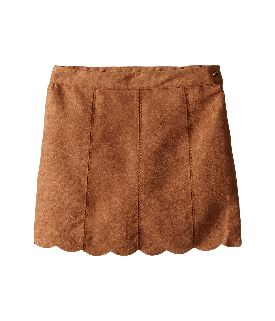 Kardashian Kids - Faux Suede Skirt (Toddler/Little Kids) (Brown) Girl's Skirt