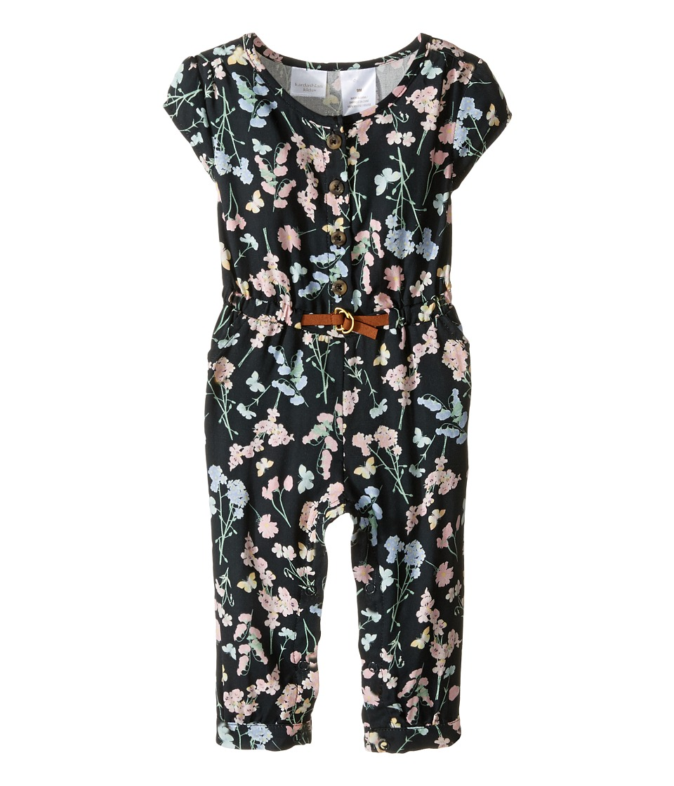 Kardashian Kids - Printed Jumpsuit (Infant) (Black Multi) Girl's Jumpsuit & Rompers One Piece