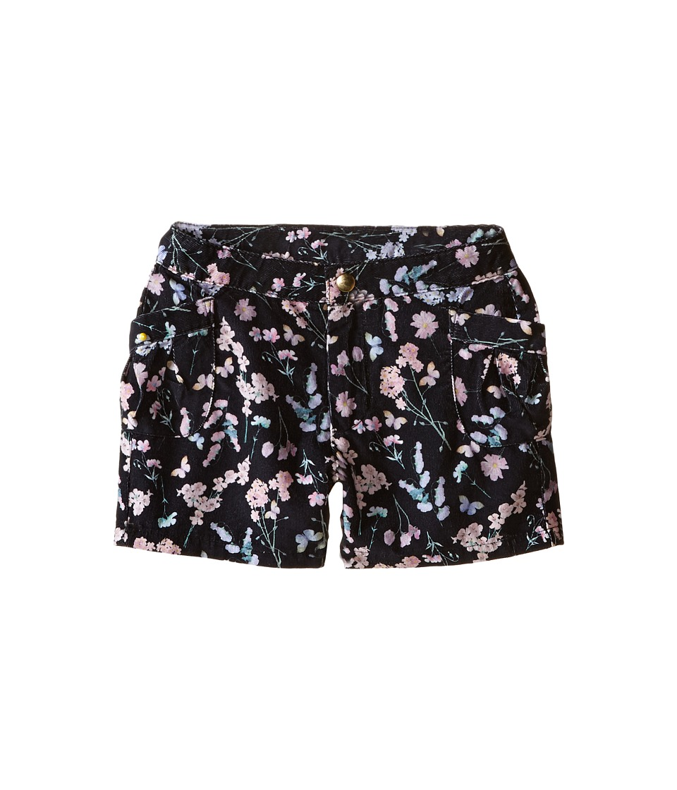 Kardashian Kids - Cord Printed Shorts with Front Patch Pockets (Toddler/Little Kids) (Black Multi) Girl's Shorts
