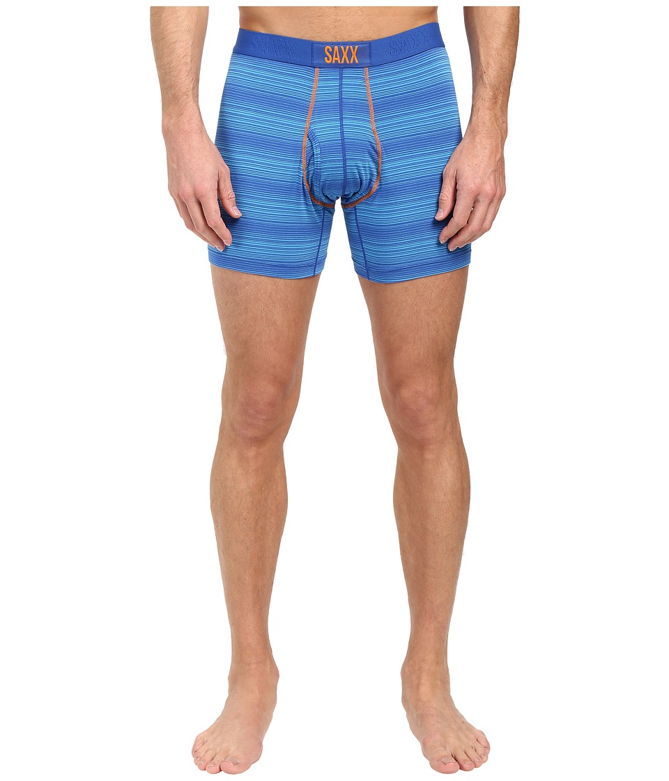 SAXX UNDERWEAR - Ultra Boxer Fly (Royal Ombre Stripe) Men's Underwear