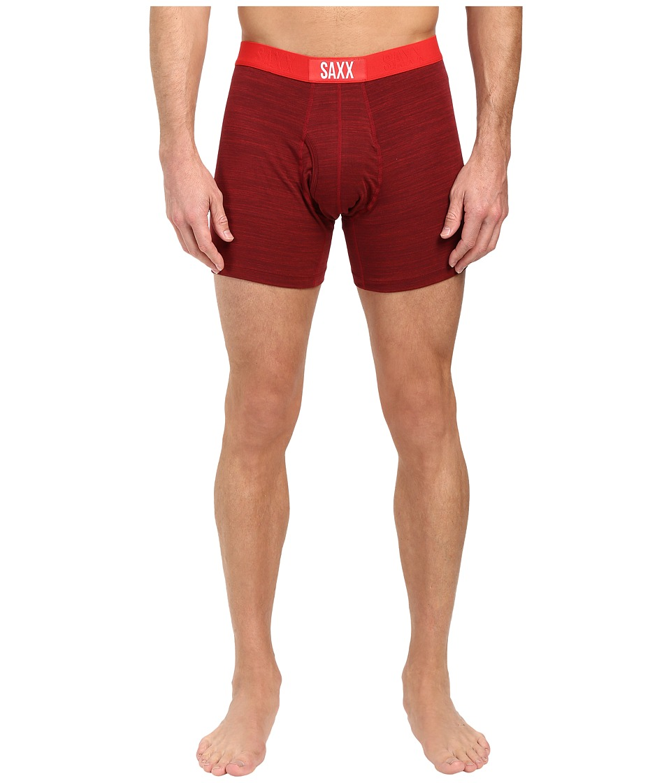 SAXX UNDERWEAR - Ultra Tri-Blend Boxer Fly (Red Hot Heather) Men's Underwear
