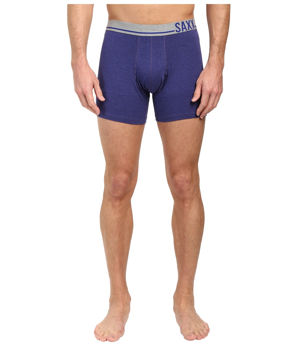 SAXX UNDERWEAR - 3 Six Five Boxer (Cobalt Heather/Grey) Men's Underwear