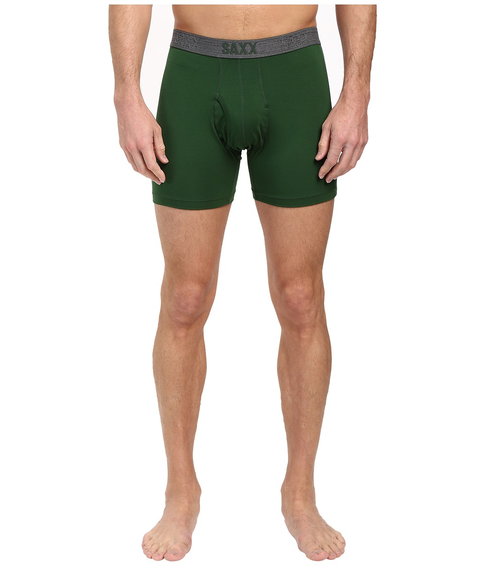SAXX UNDERWEAR - Platinum Boxer Fly (Forest/Dark Grey) Men's Underwear