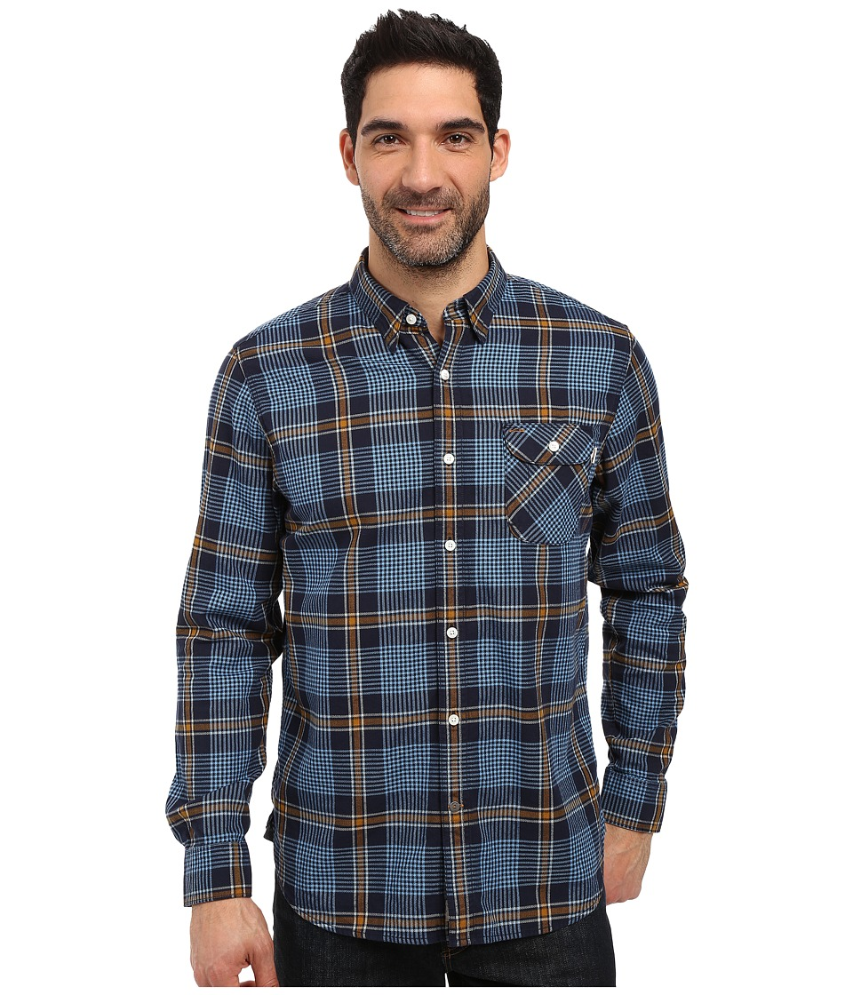 Timberland - Contemporary Twill Plaid Shirt (Dark Sapphire Yarn-Dye) Men's Long Sleeve Button Up