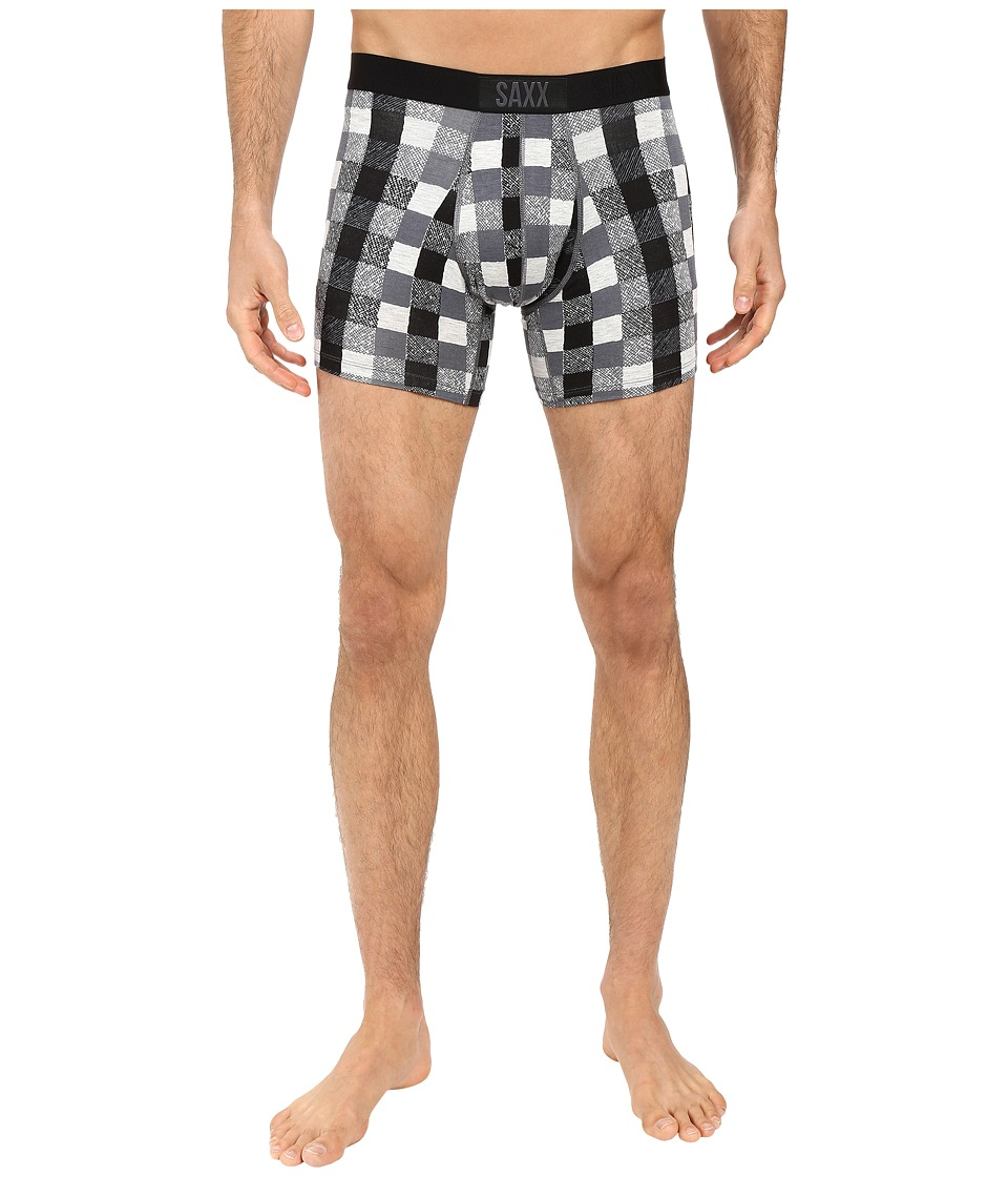 SAXX UNDERWEAR - Vibe Boxer Modern Fit (Heather Lumberjack Plaid) Men's Underwear