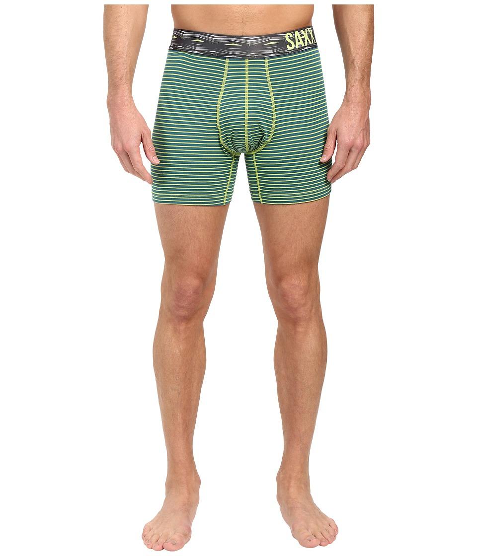 SAXX UNDERWEAR - Fiesta Boxer (Ocean/Lime Stripe) Men's Underwear