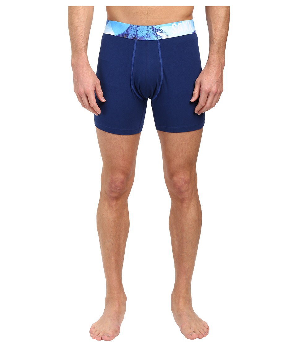 SAXX UNDERWEAR - Fiesta Boxer (Bright Navy/Royal) Men's Underwear