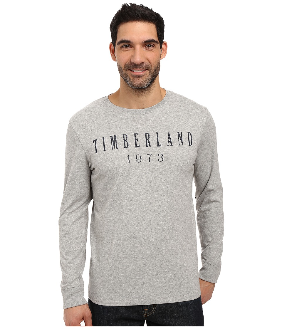 Timberland - Kennebec Linear Logo T-Shirt (Medium Grey Heather) Men's T Shirt