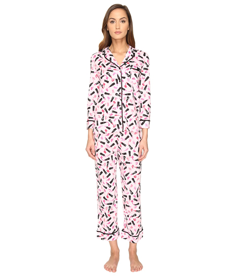 Kate Spade New York - Cropped PJ Set (Lipsticks) Women's Pajama Sets