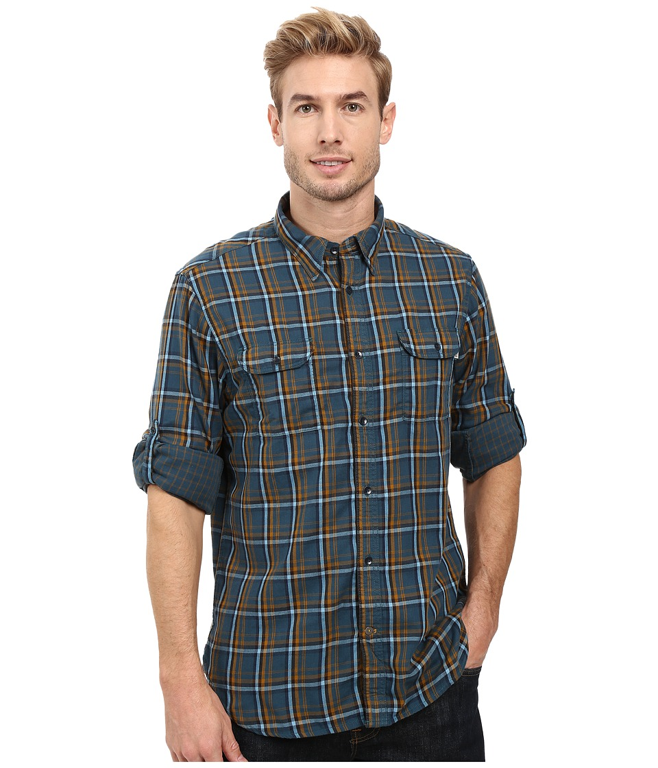 Timberland - Double Layer Plaid Shirt (Reflecting Pond Yarn-Dye) Men's Clothing