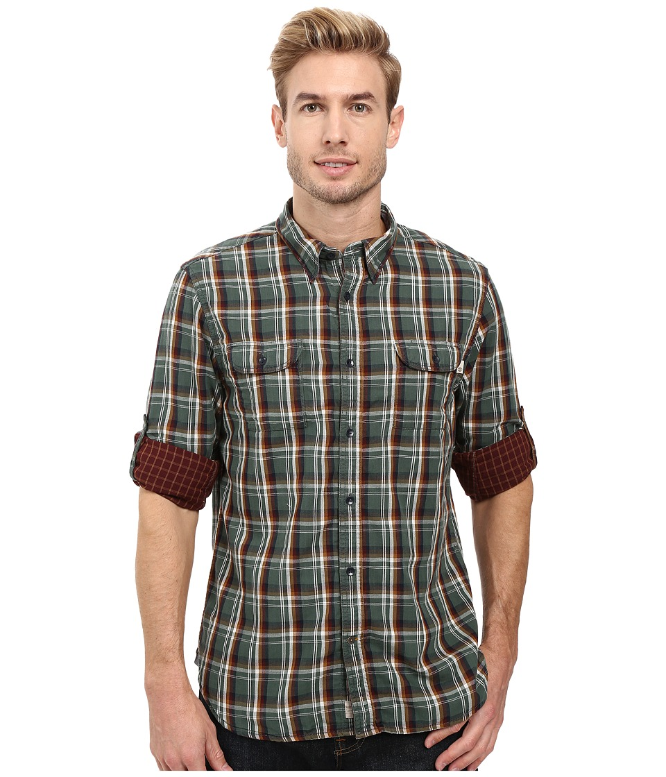 Timberland - Double Layer Plaid Shirt (Cilantro Yarn-Dye) Men's Clothing