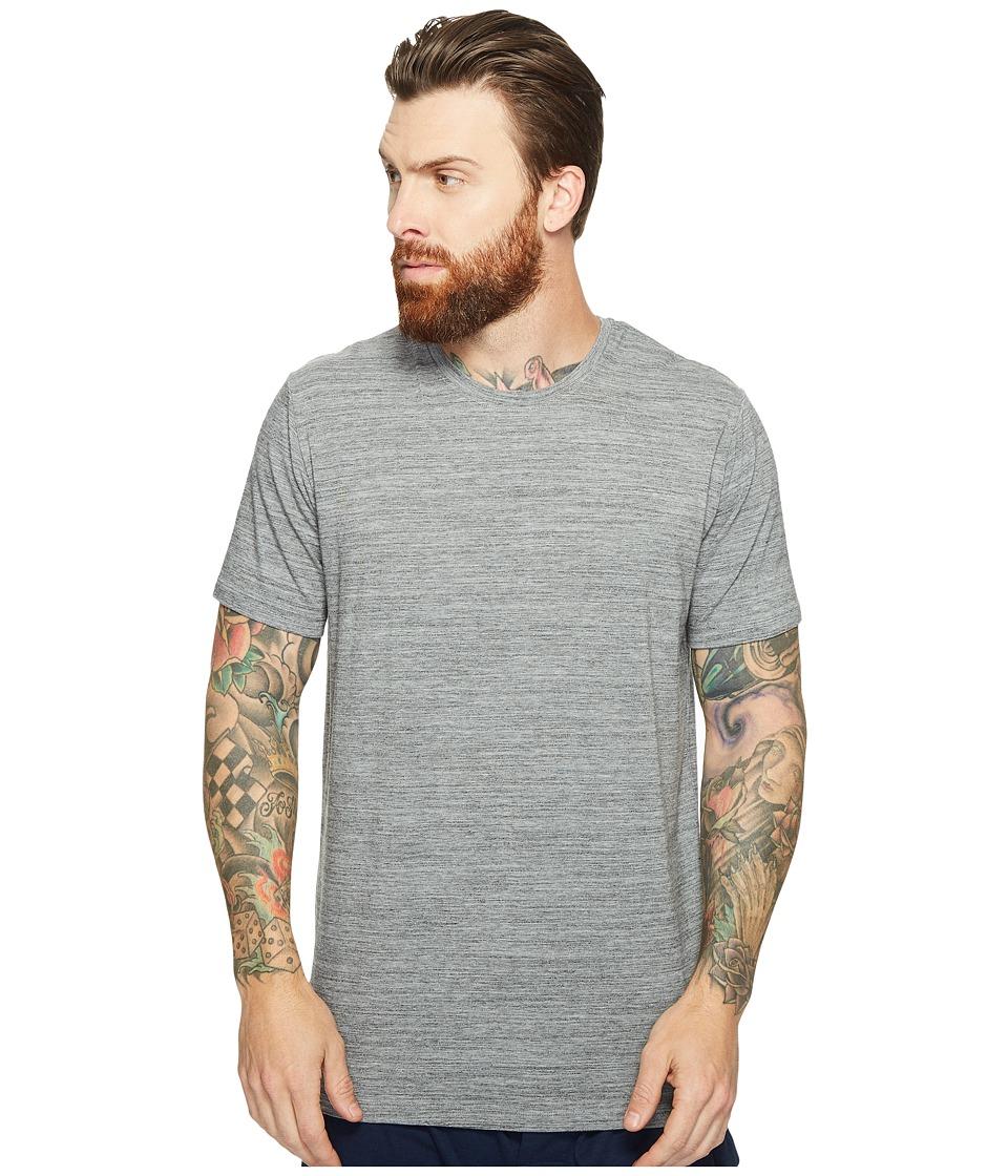 SAXX UNDERWEAR - Ultra Tri-Blend Short Sleeve Crew T-Shirt (Charcoal Mix Heather) Men's Underwear