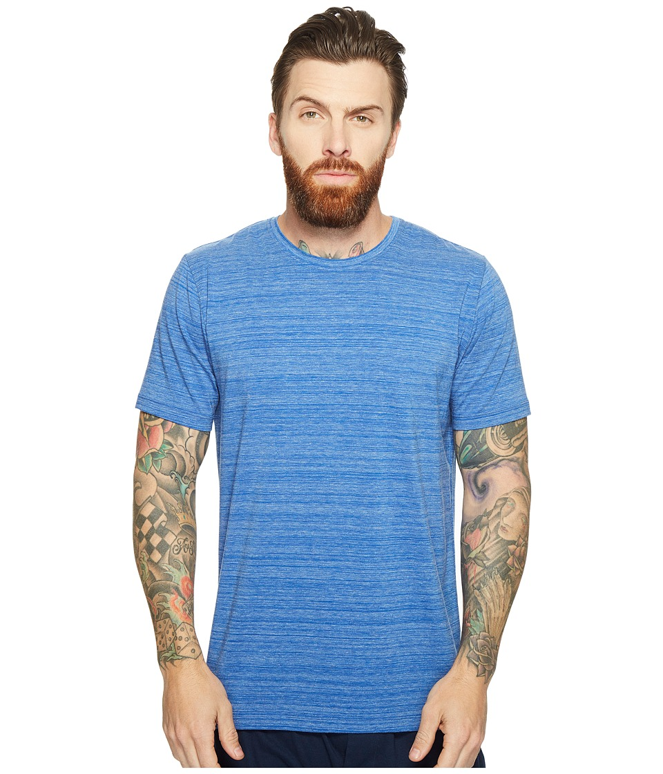 SAXX UNDERWEAR - Ultra Tri-Blend Short Sleeve Crew T-Shirt (Deep Water Heather) Men's Underwear