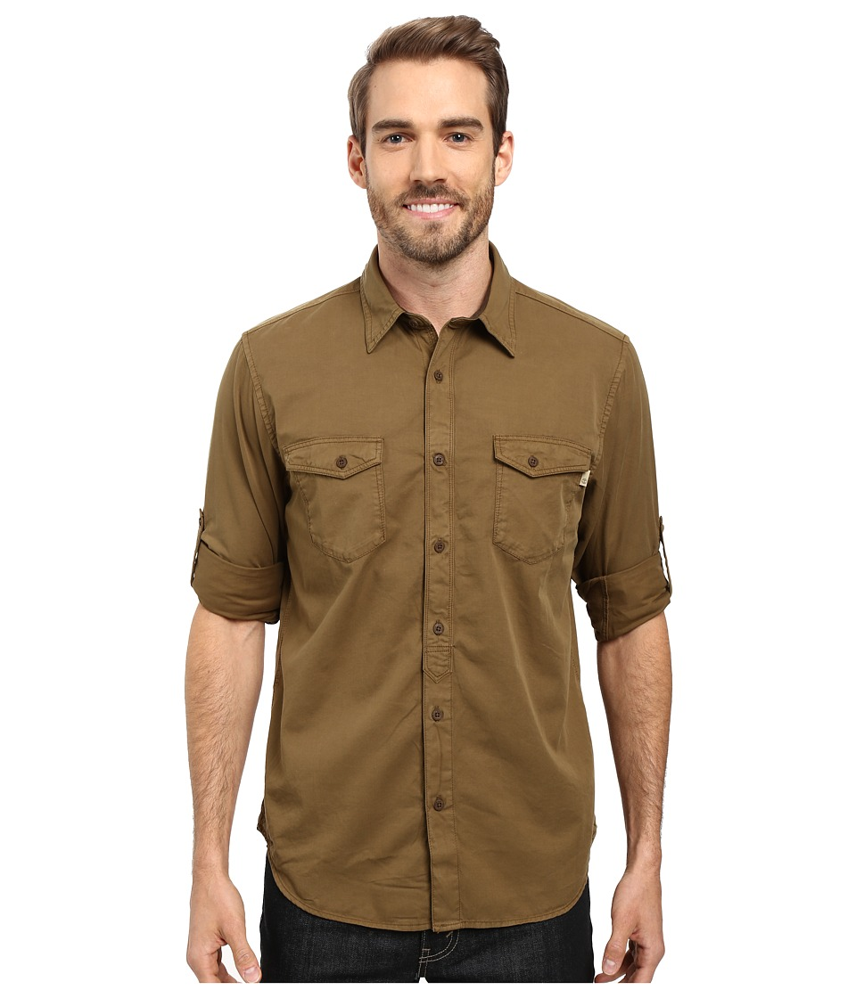 Timberland - Slim Twill Cargo Shirt (Military Olive) Men's Clothing