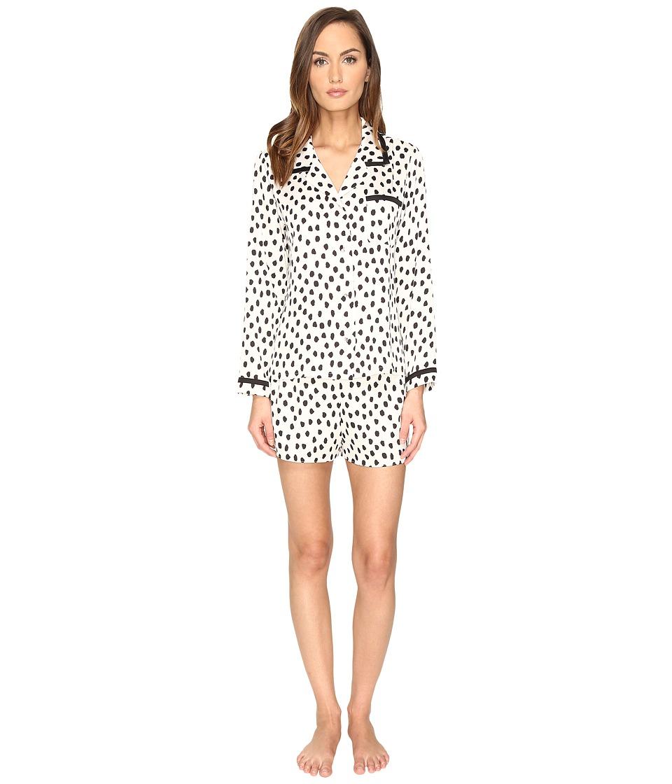 Kate Spade New York - Short PJ Set (Flamingo Dot) Women's Pajama Sets