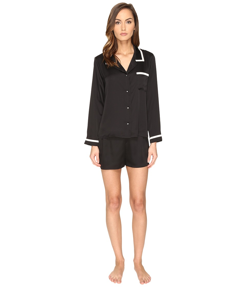 Kate Spade New York - Short PJ Set (Black) Women's Pajama Sets