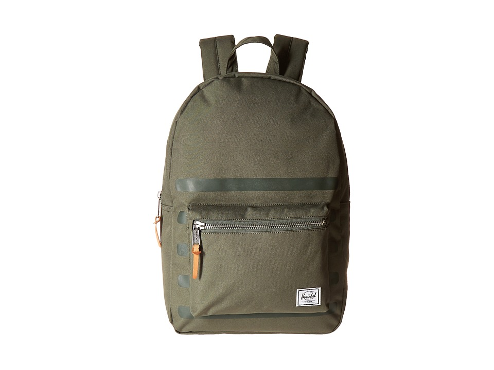 Herschel Supply Co. - Settlement (Deep Lichen Green Stripe) Backpack Bags