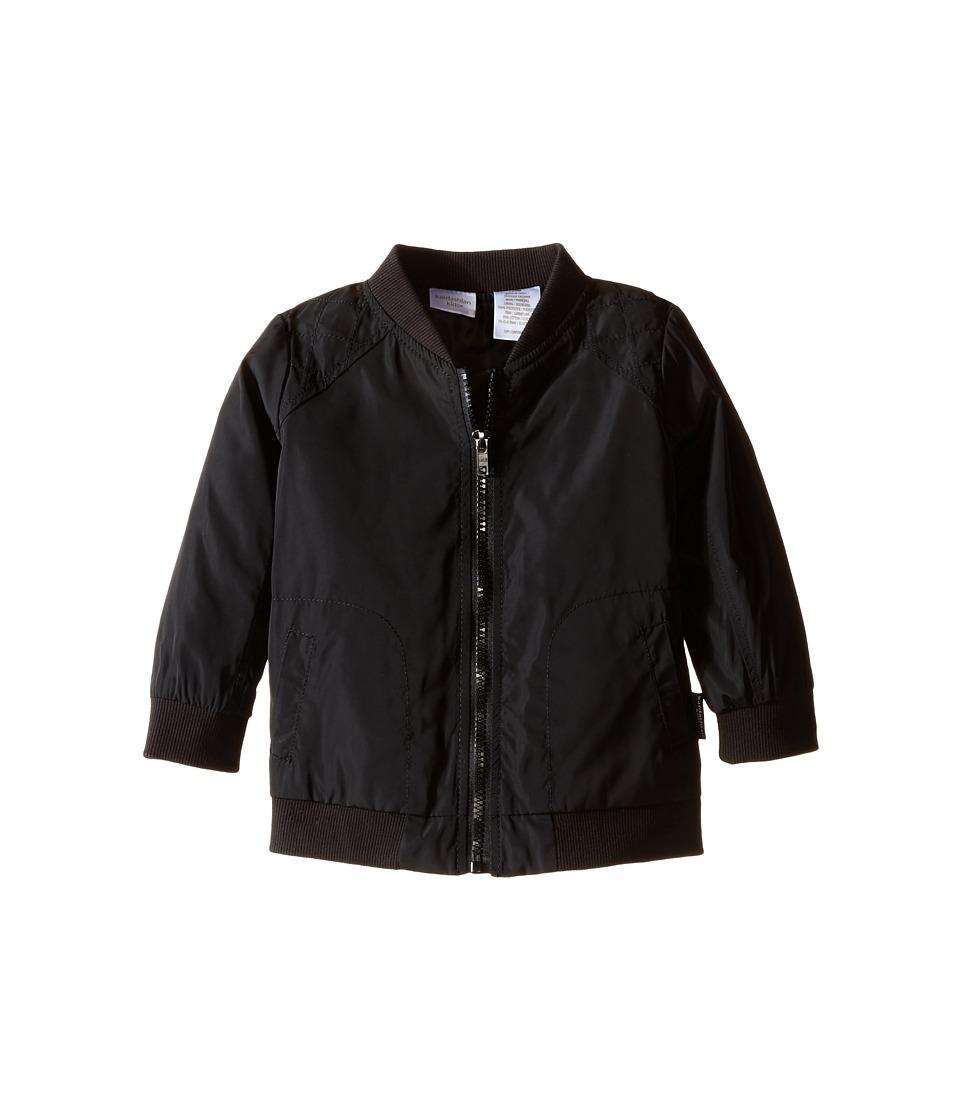 Kardashian Kids - Nylon Jacket with Quilting Detail (Infant) (Black) Boy's Coat