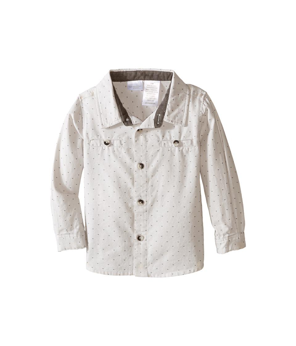 Kardashian Kids - Shirt with Mini Yardage and Faux Suede Trim (Infant) (Grey) Boy's Clothing