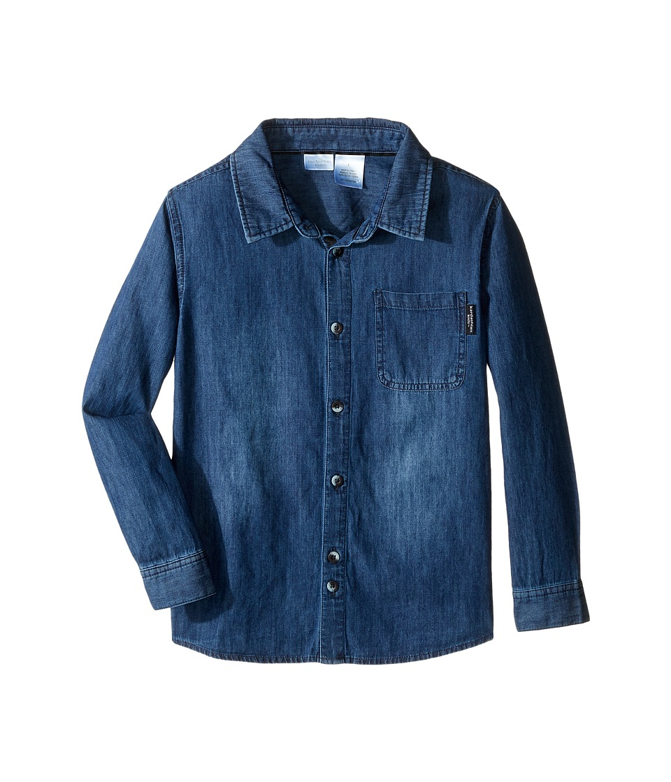 Kardashian Kids - Chambray Shirt with Contrast Pocket Detail (Toddler/Little Kids) (Blue) Boy's Clothing