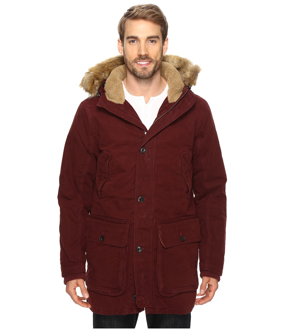 Timberland - Waxed Scar Ridge Parka (Dark Port) Men's Coat
