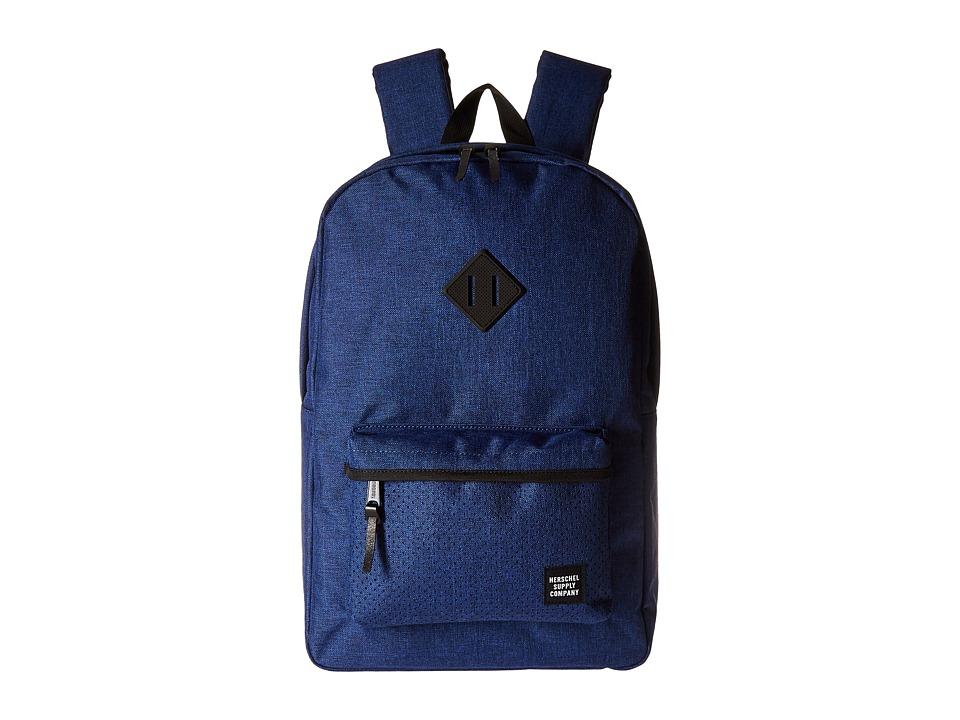 Herschel Supply Co. - Heritage (Eclipse Crosshatch/Black Rubber) Backpack Bags