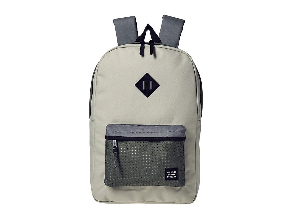 Herschel Supply Co. - Heritage (Pelican/Deep Lichen Green/Black Rubber) Backpack Bags