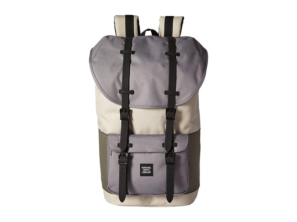 Herschel Supply Co. - Little America (Pelican/Deep Lichen Green/Black Rubber) Backpack Bags