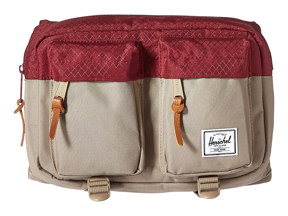 Herschel Supply Co. - Eighteen (Brindle/Windsor Wine) Travel Pouch