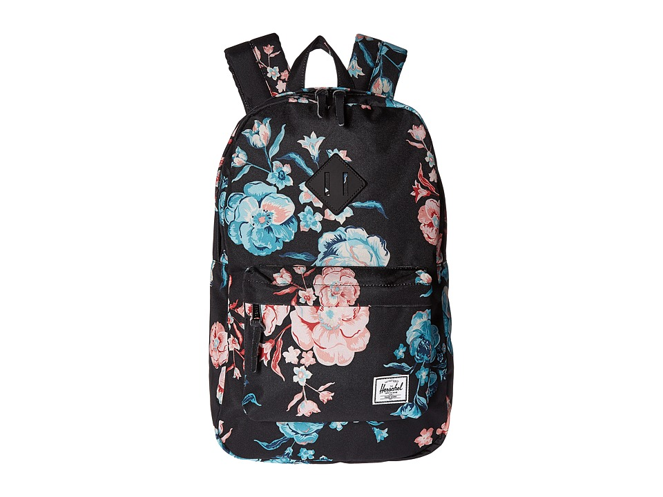 Herschel Supply Co. - Heritage Mid-Volume (Pastel Petals/Black Rubber) Backpack Bags