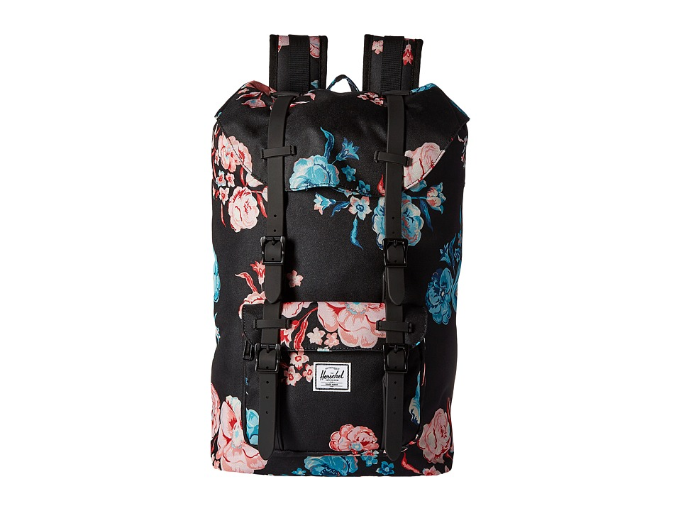 Herschel Supply Co. - Little America Mid-Volume (Pastel Petals/Black Rubber) Backpack Bags