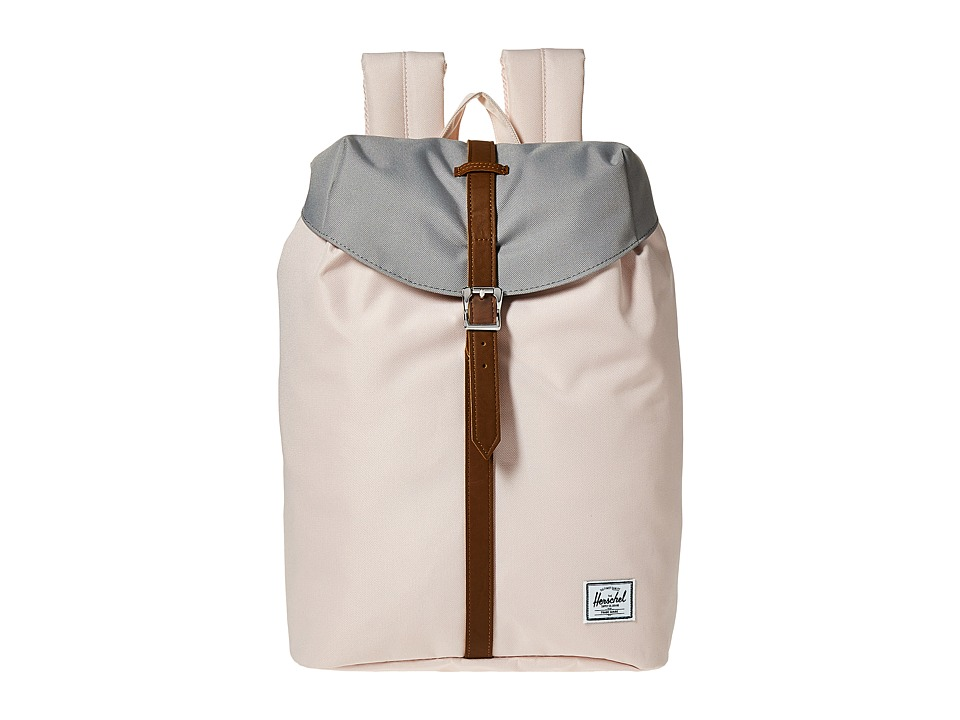 Herschel Supply Co. - Post Mid-Volume (Cloud Pink/Ash/Tan Synthetic Leather) Backpack Bags