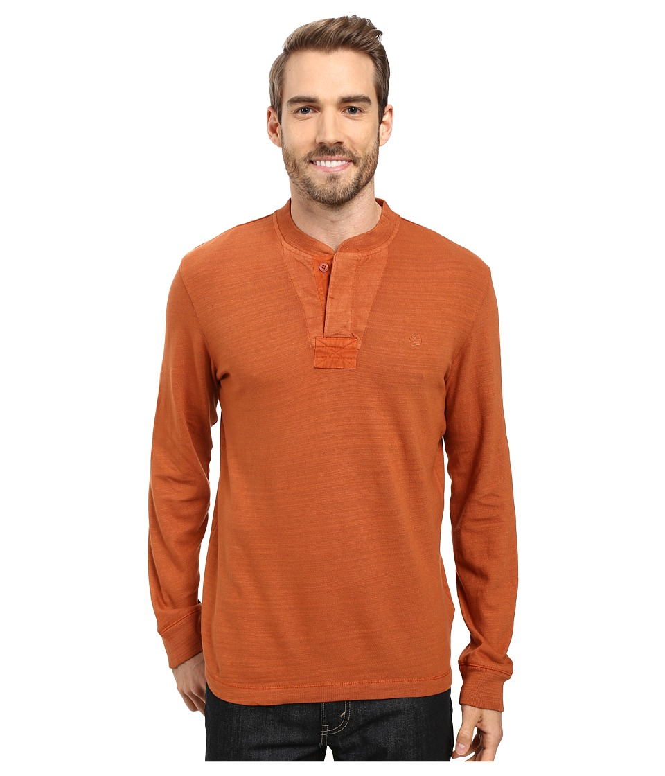 Timberland - Great Brook Slub Henley (Ginger Bread) Men's Long Sleeve Pullover
