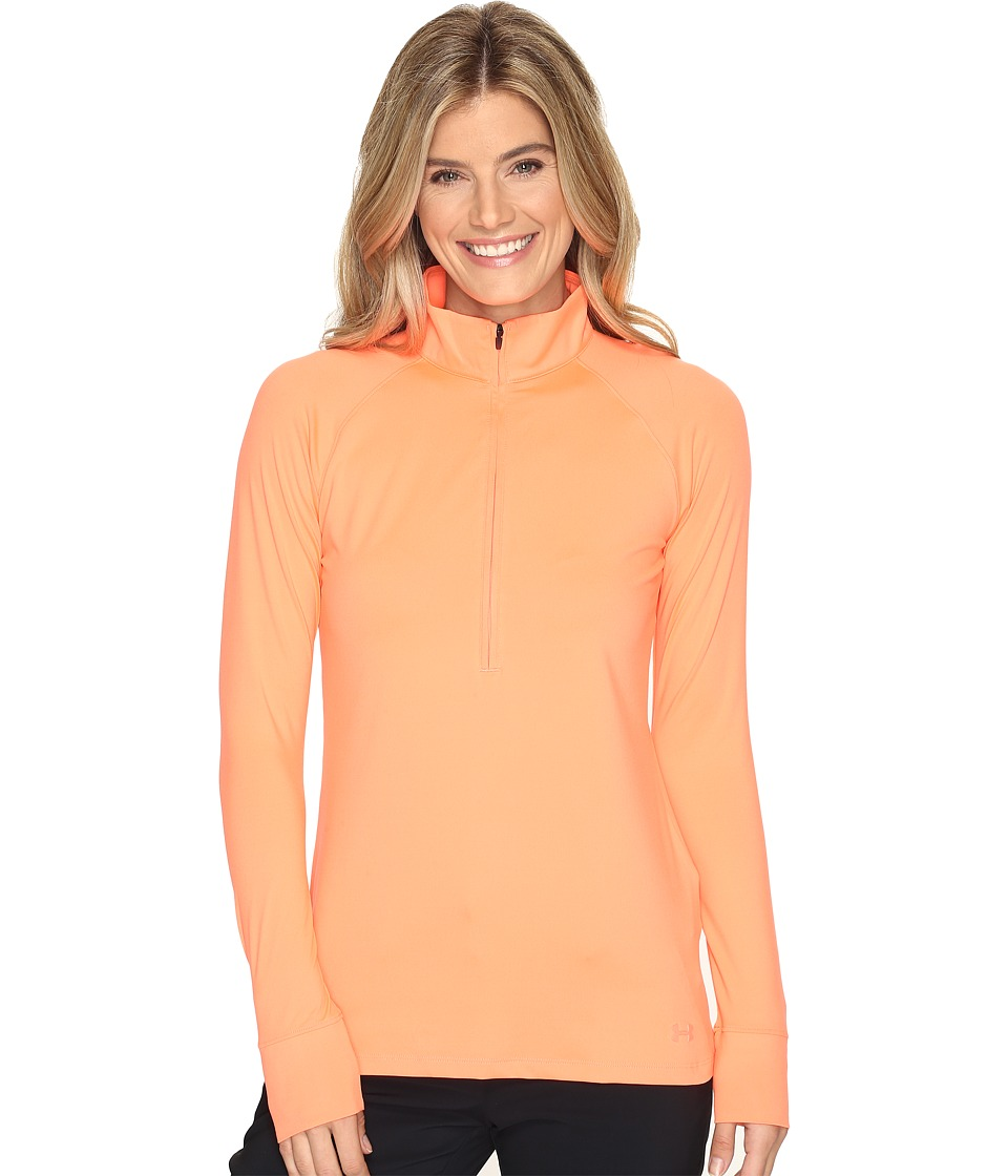 Under Armour Golf - Zinger 1/4 Zip (London Orange/London Orange/Rhino Gray) Women's Workout