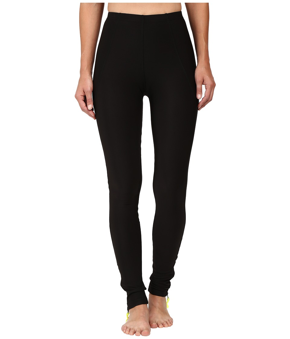 Plush Fleece-Lined Zippered Running Leggings with Pocket (Black) Women