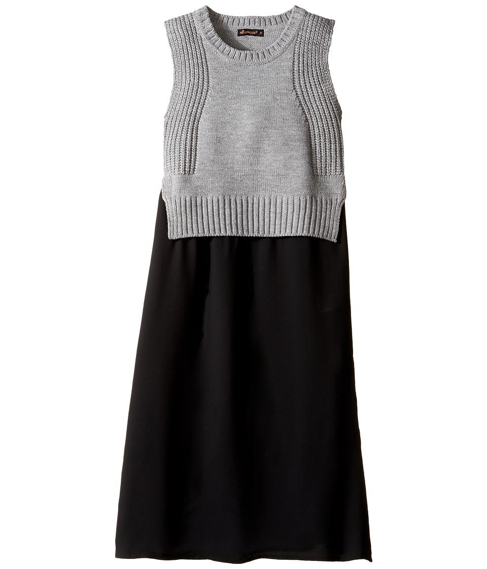 Ella Moss Girl - Lorri Sweater Top with Chiffon (Big Kids) (Charcoal Grey Heather) Girl's Sweater