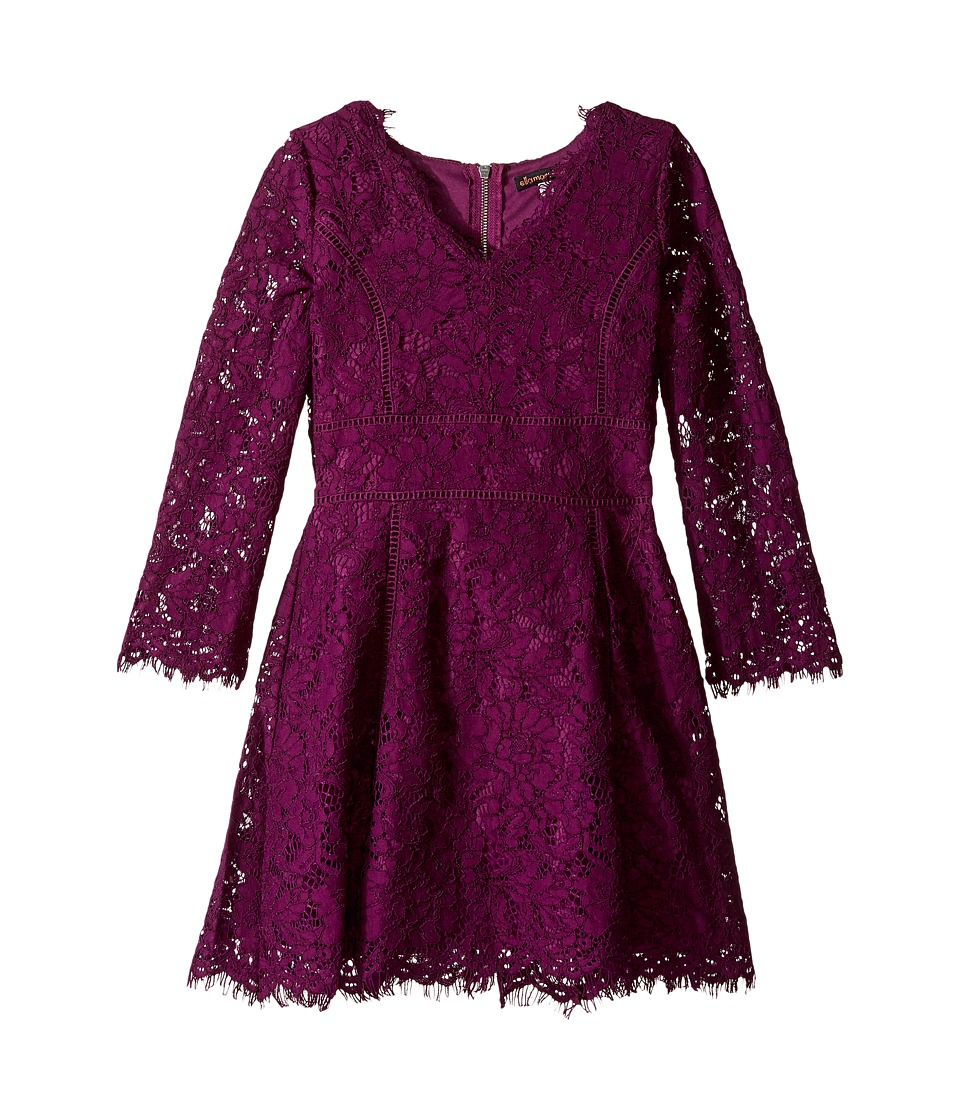 Ella Moss Girl - Gwen All Over Lace Dress (Big Kids) (Violet) Girl's Dress