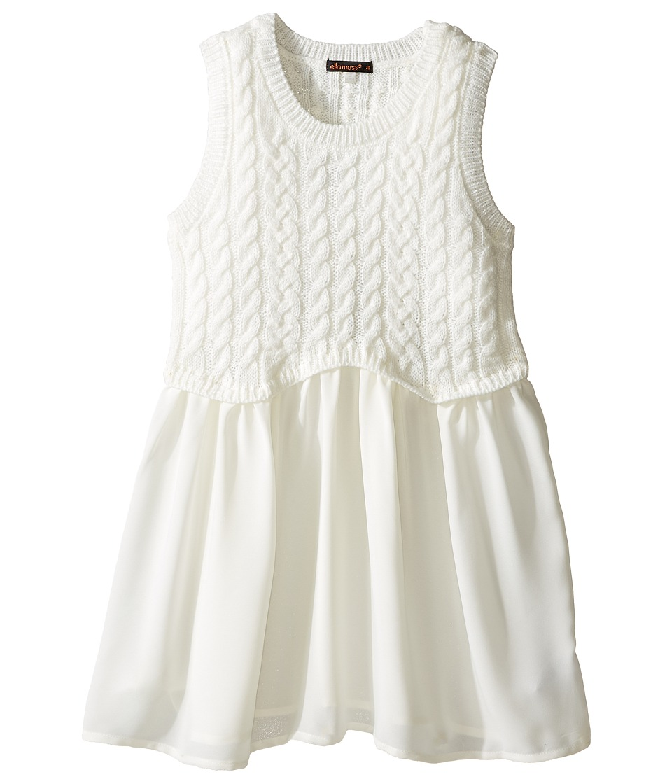 Ella Moss Girl - Nelly Cable Sweater Knit Top (Big Kids) (Off-White) Girl's Sweater