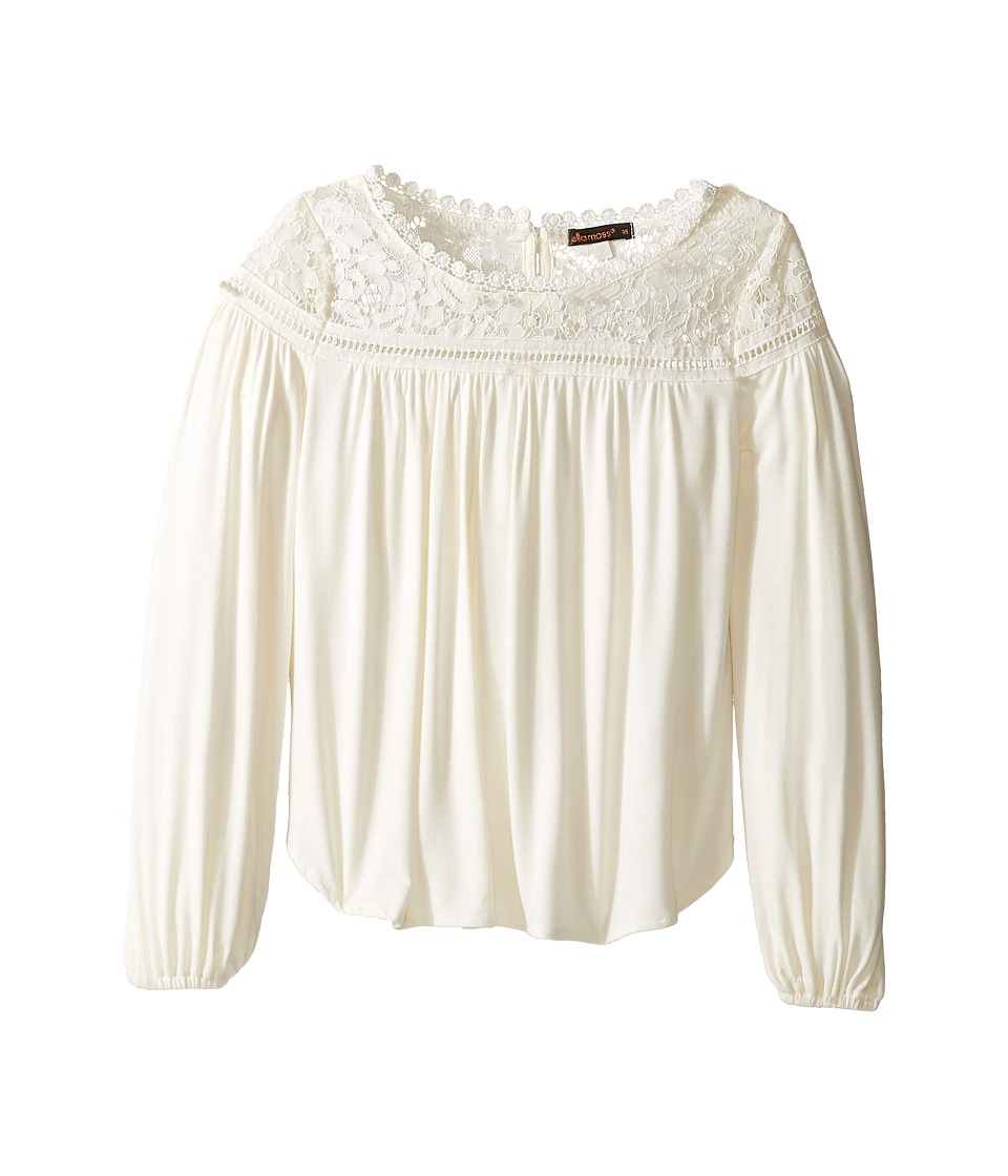 Ella Moss Girl - Gwen Bell Sleeve Top (Big Kids) (Off-White) Girl's Clothing