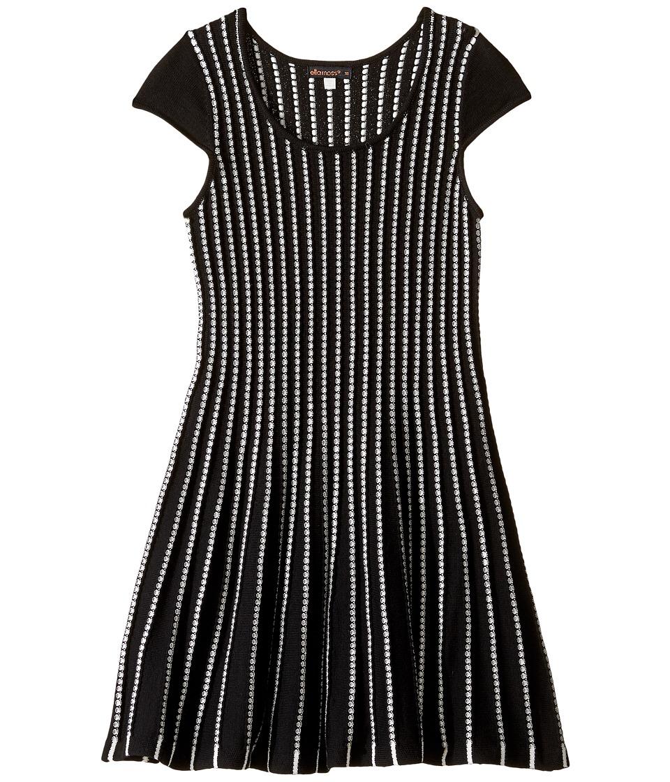 Ella Moss Girl - Tami Fitted Sweater Dress (Big Kids) (Black) Girl's Dress