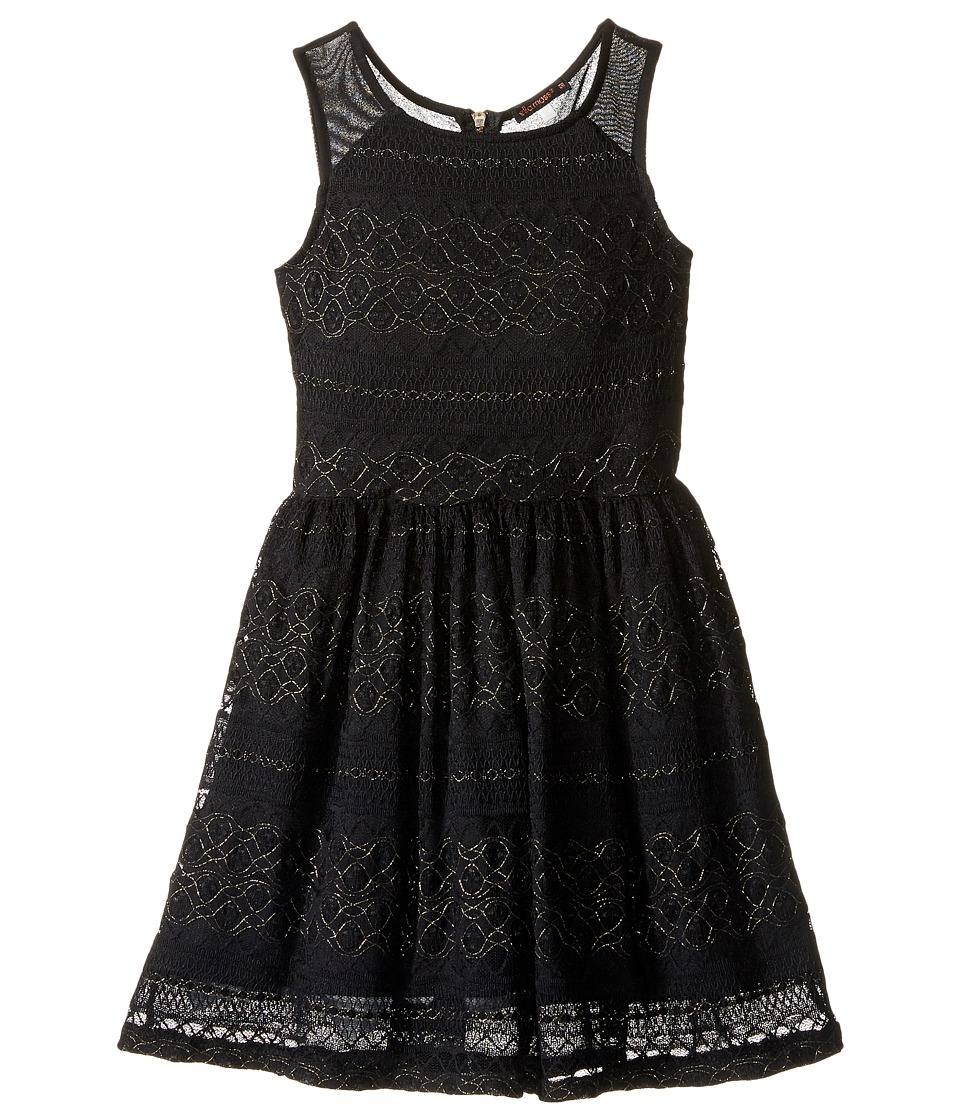 Ella Moss Girl - Isla Lace Fit and Flare Dress (Big Kids) (Black) Girl's Dress