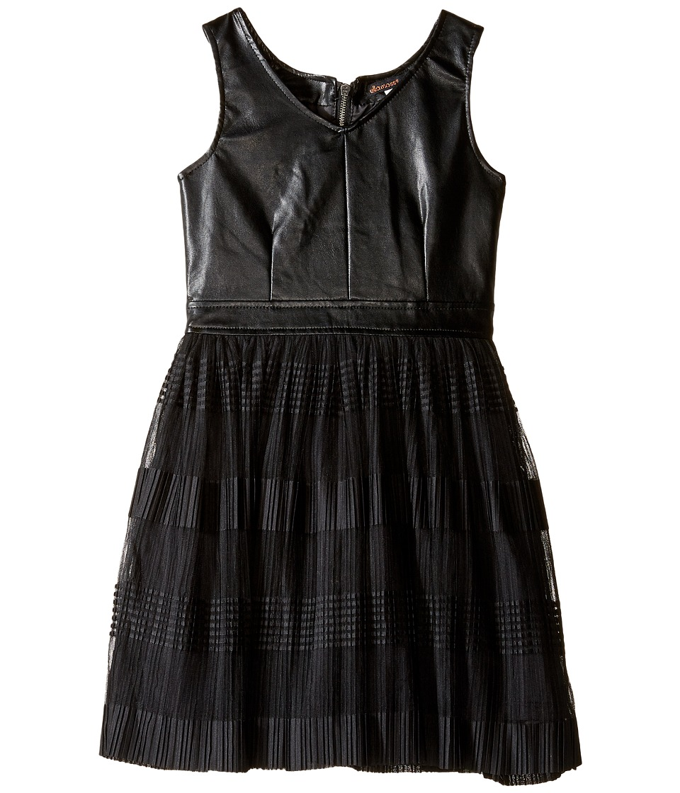 Ella Moss Girl - Amie Fit and Flare Pleated Dress (Big Kids) (Black) Girl's Dress