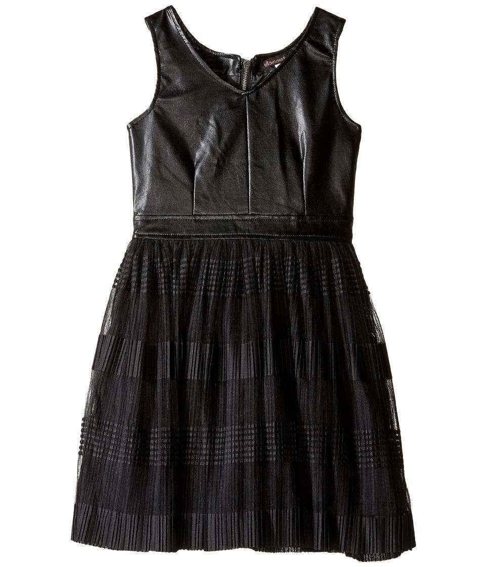 Ella Moss Girl - Amie Fit and Flare Pleated Dress (Big Kids) (Black) Girl's Dress