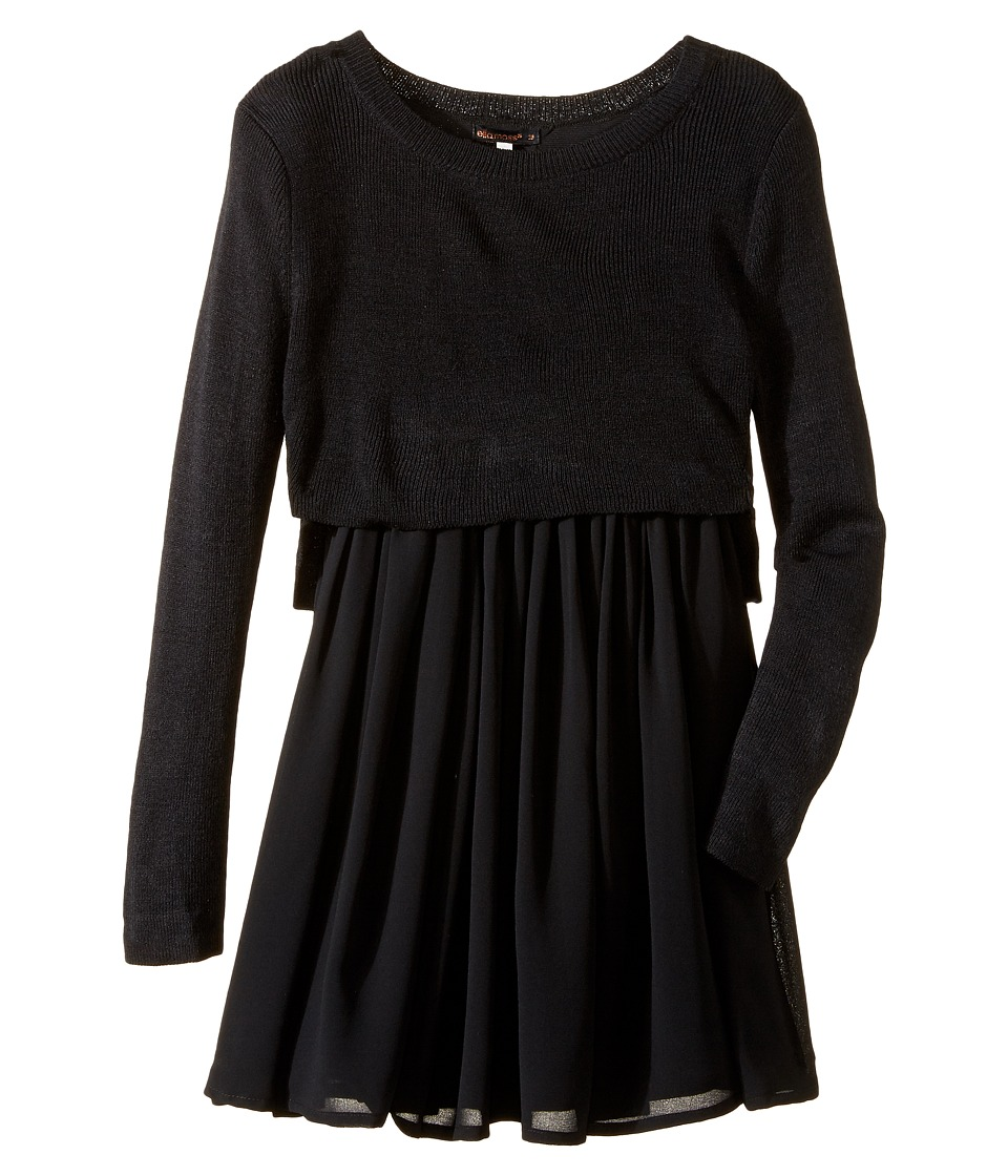 Ella Moss Girl - Macie Sweater Dress (Big Kids) (Black) Girl's Dress