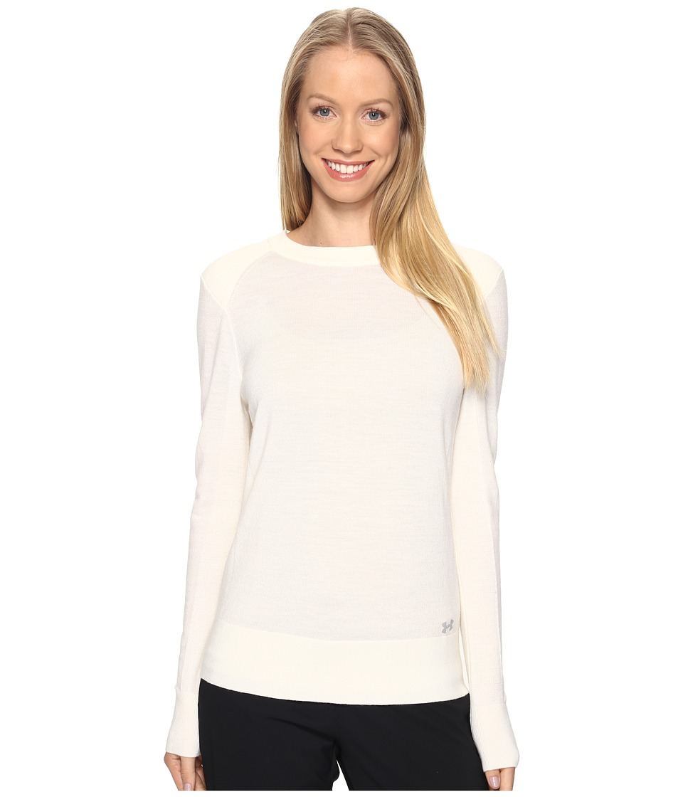 Under Armour Golf - Crew Sweater (Ivory/Ivory/Overcast Gray) Women's Sweater