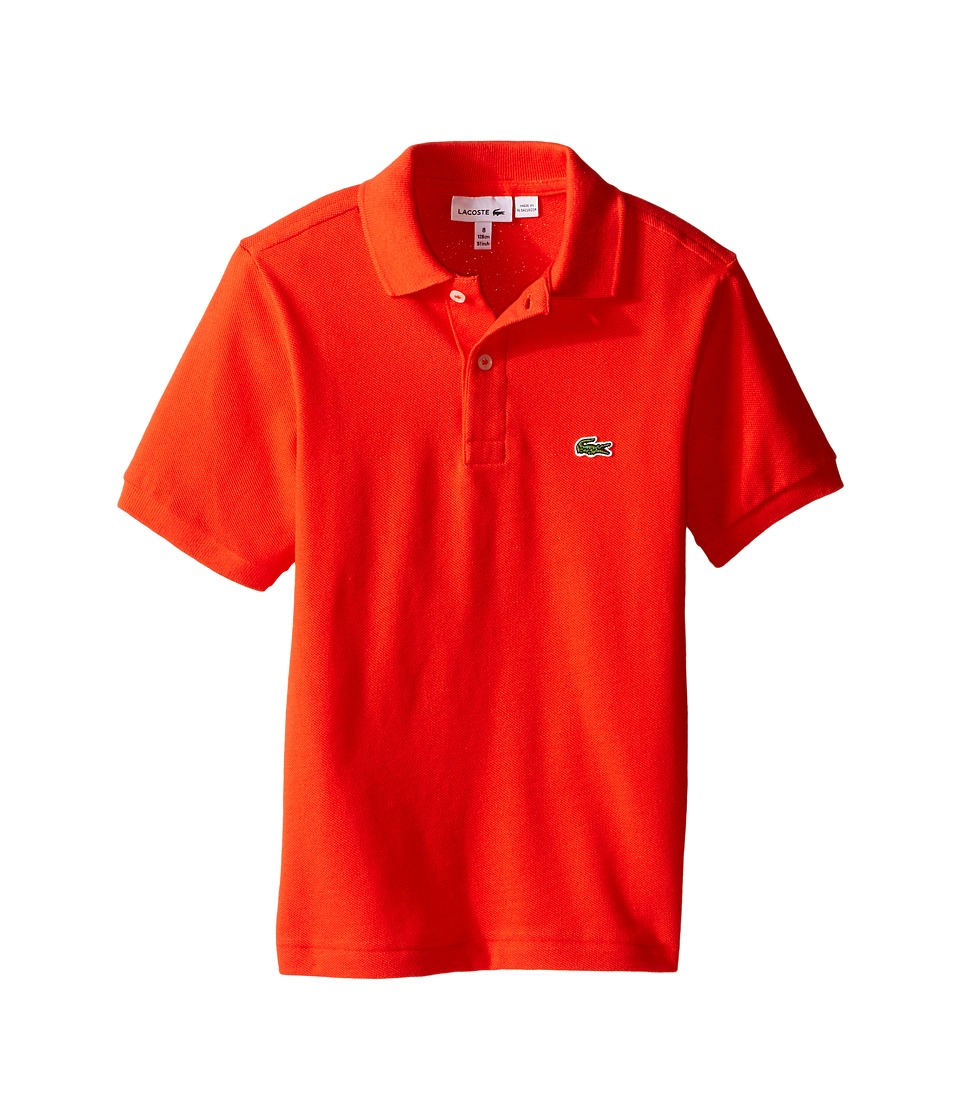 Lacoste Kids - Short Sleeve Classic Pique Polo Shirt (Toddler/Little Kids/Big Kids) (Redcurrant Bush) Boy's Short Sleeve Pullover