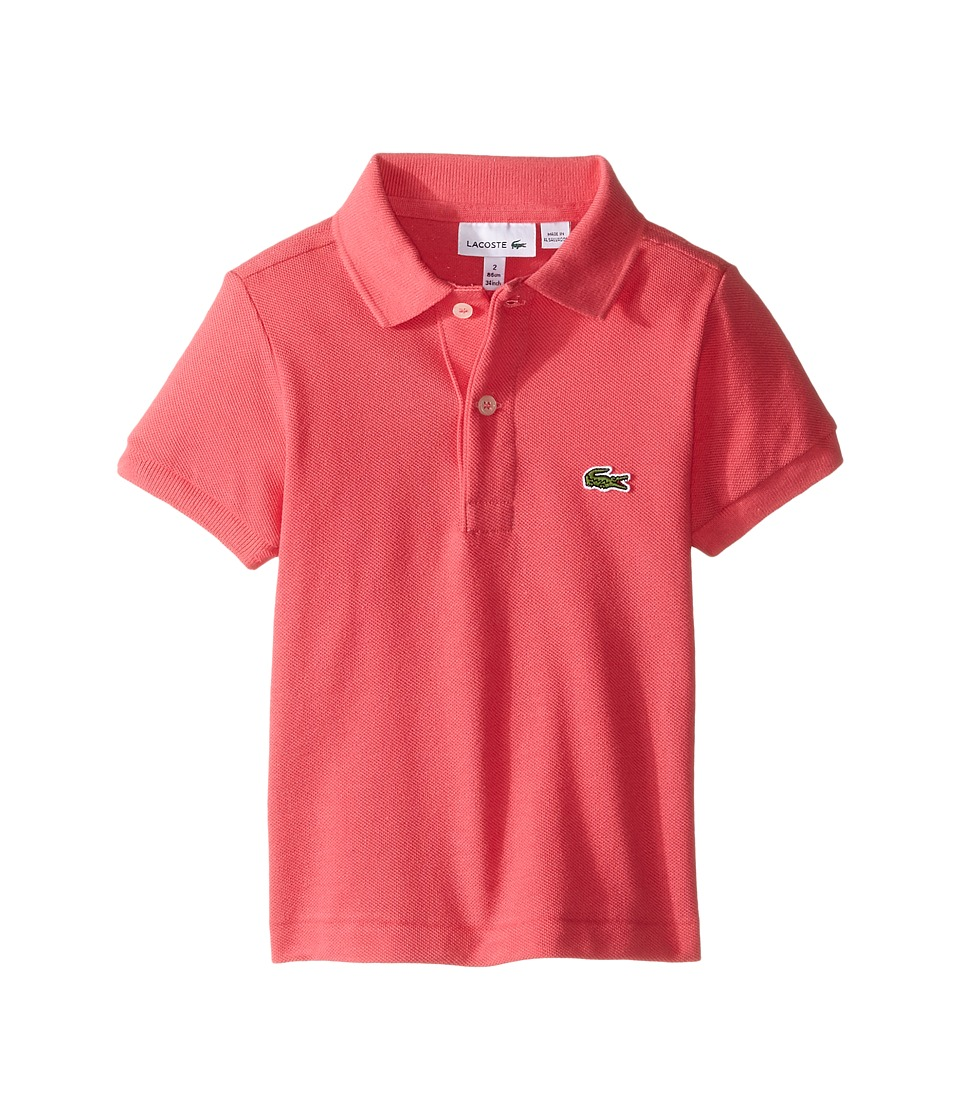 Lacoste Kids - Short Sleeve Classic Pique Polo Shirt (Toddler/Little Kids/Big Kids) (Dahlia Pink) Boy's Short Sleeve Pullover