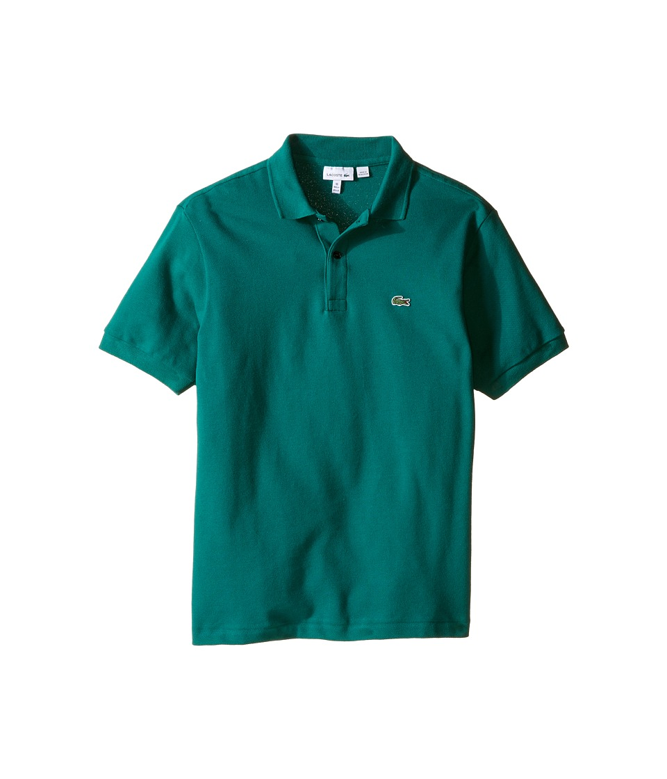 Lacoste Kids - Short Sleeve Classic Pique Polo Shirt (Toddler/Little Kids/Big Kids) (Bottle Green) Boy's Short Sleeve Pullover
